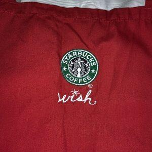 Starbucks Super Rare Old Logo Red Wish Apron